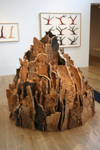 Small Cork Spire, David Nash