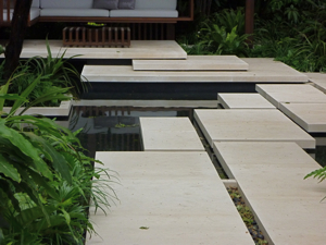 sawn edged paving, chelsea flower show