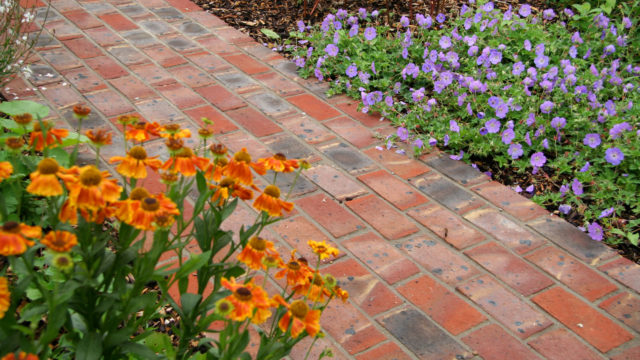 FINISHED GARDEN brick path