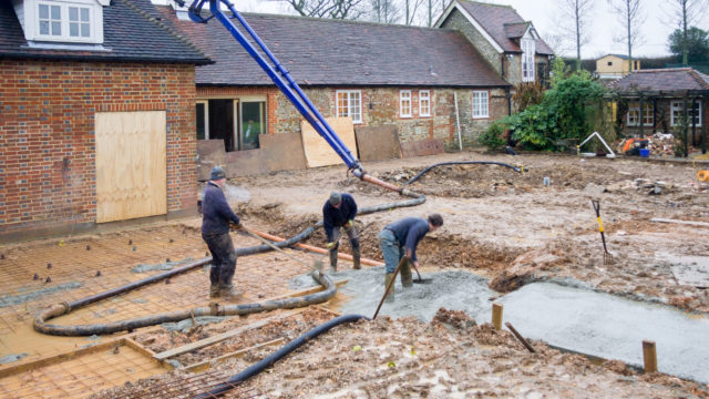 LANDSCAPING concrete pouring