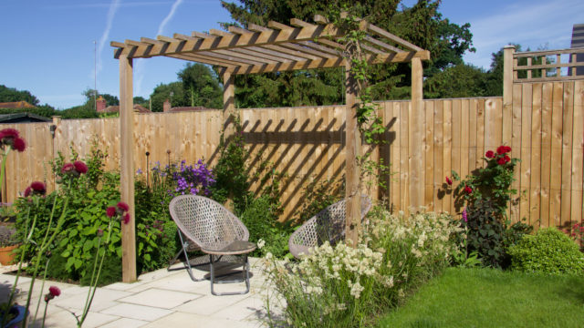 contemporary pergola seating-Petersfield